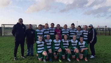 Cockhill u16 girls team photo from win or Lagan Harps