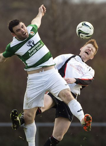 Cockhill's Friel battles against Letterkenny Rovers